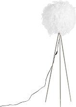 Lámpara de pie romántica blanca - FEATHER