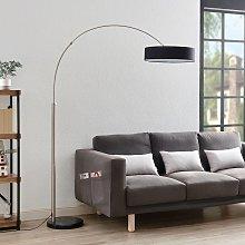 Lámpara de pieShing con pantalla de tela negra