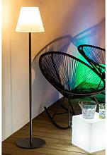 Lámpara de Pie Solar para Exterior Llahra Blanco