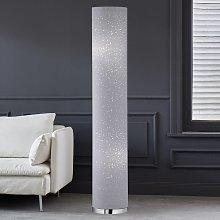 Lámpara de pie Thor textil en gris 110 cm