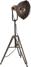 Lámpara de pié tripode industrial hierro