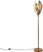 Lámpara de pie vintage dorado - BOTANICA