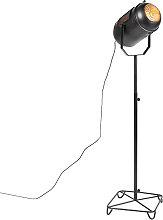 Lámpara de pie vintage negra foco estudio - BLAKE
