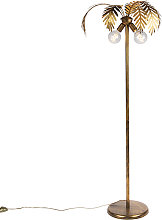 Lámpara de pie vintage oro 2 luces - BOTANICA