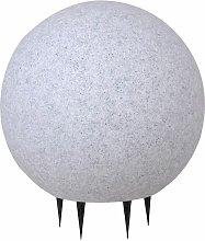 Lámpara de piedra decorativa bola de granito