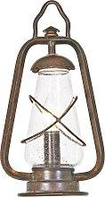 lámpara de pilar Miners estilo farolillo