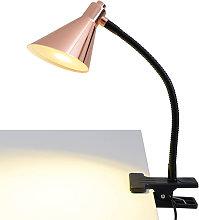 Lámpara de pinza LED de color cobre Janita