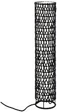 Lámpara de piso Knute en papel negro