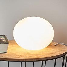 Lámpara de sobremesa de vidrio Oval, Ø 18 cm