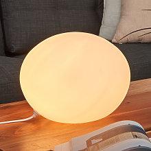 Lámpara de sobremesa de vidrio Oval Ø 30 cm
