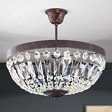 Lámpara de techo Andara, cadenas de cristal Ø