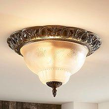 Lámpara de techo Anni clásica, tulipa de cristal