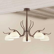 Lámpara de techo Christian marrón oscura