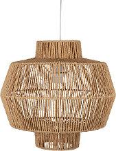 Lámpara de techo con hilos de papel