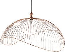 Lámpara de techo de alambre cobrizo