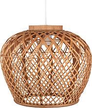 Lámpara de techo de bambú calado
