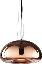 Lámpara de techo de cristal cobrizo D.42