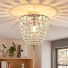 Lámpara de techo de cristal Lionello centelleante
