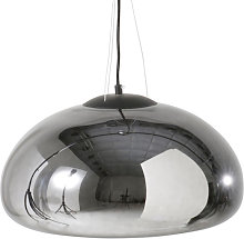 Lámpara de techo de cristal plateado
