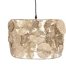 Lámpara de techo de flores de metal cincelado