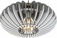 Lámpara de techo de lujo comedor madera listones