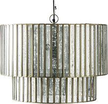 Lámpara de techo de metal con espejo