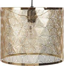 Lámpara de techo de metal dorado calado