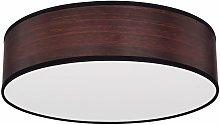 Lámpara de techo diseño de madera foco marrón