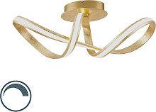 Lámpara de techo diseño dorado LED - BELINDA