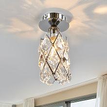 Lámpara de techo estrecha CHARLENE, cromada