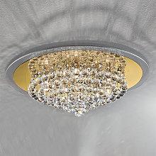 Lámpara de techo expresiva TUILA 62 cm, cristal