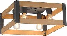 Lámpara de techo iluminación comedor caja de