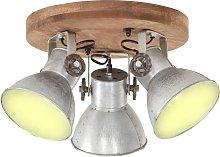 Lámpara de techo industrial 25 W plateado 42x27