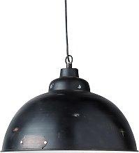 Lámpara de techo industrial de metal negro