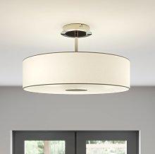 Lámpara de techoJosia de tela blanca