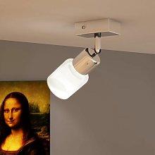 Lampara de techo LED con un foco de vidrio