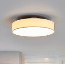 Lámpara de techo LED de tela Saira, 30 cm, blanco