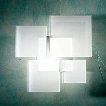 Lámpara de techo QUADRIFOGLIO 8050, plata
