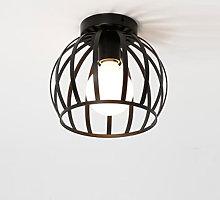 Lámpara de Techo Retro Industrial Jaula Metal E27
