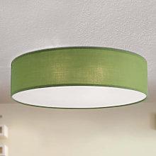 Lámpara de techo textil Jitendra de color verde