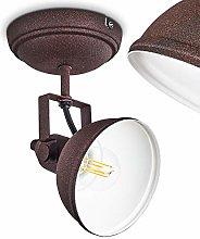 Lámpara de techo Tina de metal en marrón/blanco