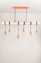 Lámpara de Techo Tina Naranja Sklum