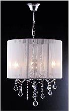 Lámpara de techo TOSCANI de hilos blancos -