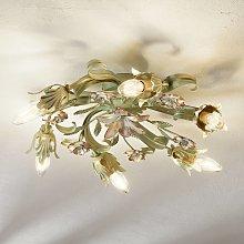 Lámpara de techo Tulipa, diseño floral 6 brazos