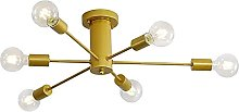 Lámpara de Techo Vintage en Metal Industrial 6 x