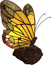 Lámpara decorativa 6009, mariposa, estilo Tiffany