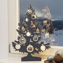 Lámpara decorativa LED árbol de Navidad antracita