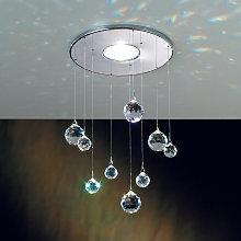 Lámpara empotrada Feng Shui piezas Swarovski cromo