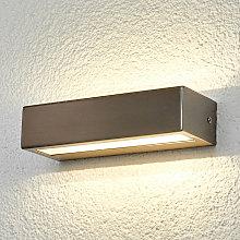 Lámpara exterior de acero inox LED recta Patrica