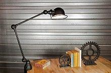Lámpara Jielde loft negra mate estilo vintage con